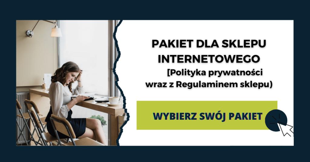 pakiet dla sklepu internetowego prawnik